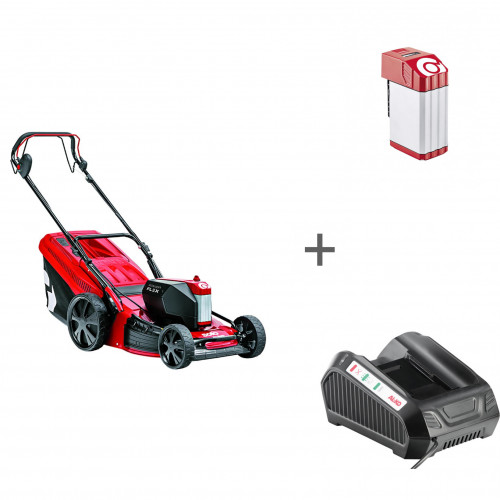 Газонокосилка аккумуляторная Solo by AL-KO 4757 Li SP + аккумулятор и зарядное устройство PowerFlex в подарок!