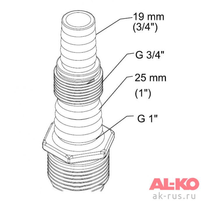 Насос погружной высокого давления AL-KO DIVE 6300/4