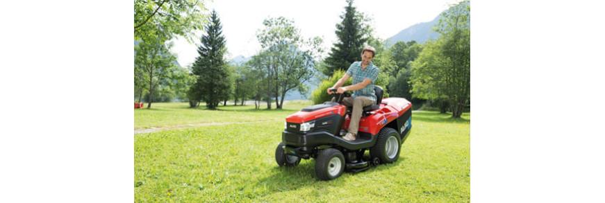 Садовые тракторы с травосборником