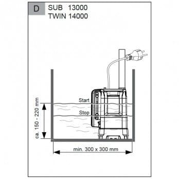 Насос погружной для чистой воды AL-KO SUB 13000 DS Premium