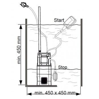 Насос погружной высокого давления AL-KO DIVE 5500/3
